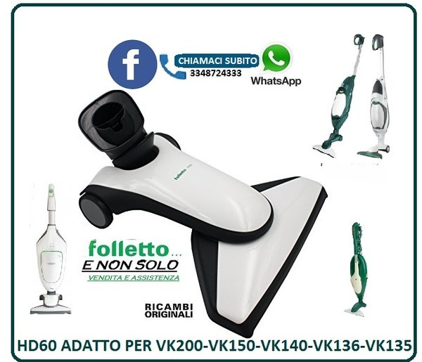 Folletto Subito It.Spazzola Hd60 Per Scopa Folletto Vk 200 Vk 200 S 150 140